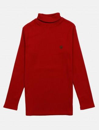 Fritzberg solid red full sleeves t-shirt
