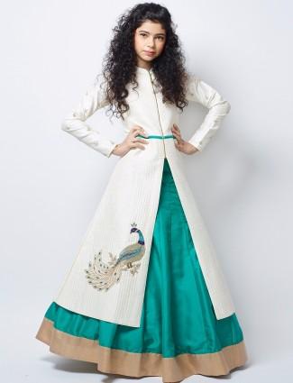 G3 Exclusive aqua green silk party wear lehenga choli