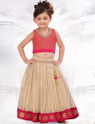 G3 Exclusive beige wedding wear net lehenga choli