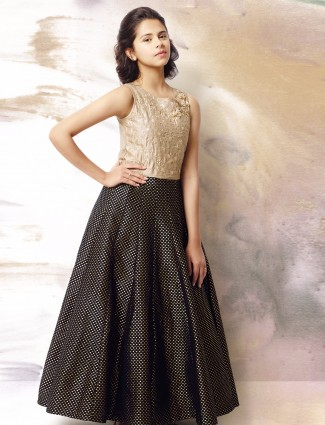 G3 Exclusive black silk party wear gown