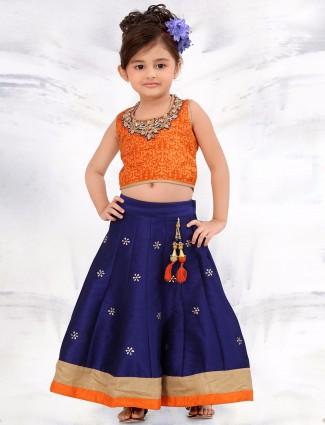 G3 Exclusive blue festive wear raw silk lehenga choli