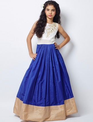 G3 Exclusive blue silk party wear nice gown