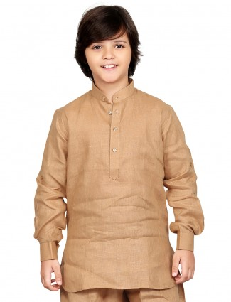 G3 Exclusive cotton solid brown festive wear Short Pathani