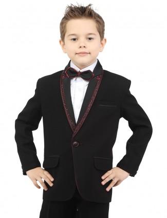 G3 Exclusive designer black terry rayon plain boys coat suit