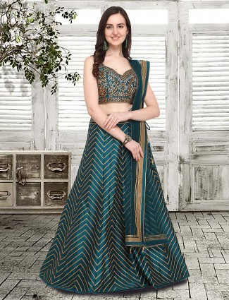 G3 Exclusive Emerald green festive lehenga choli