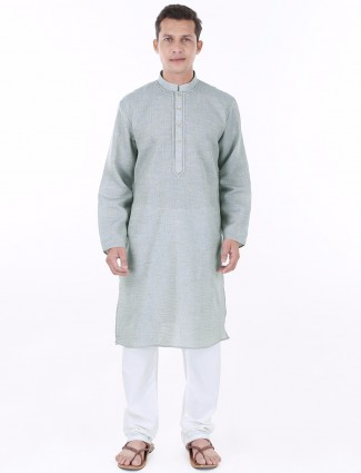 G3 Exclusive festive grey jute Kurta Suit