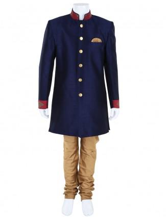 G3 Exclusive festive wear navy boys indo western