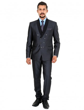 G3 Exclusive grey party wear terry rayon plain mens coat suit