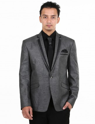 G3 exclusive grey plain terry rayon men coat suit