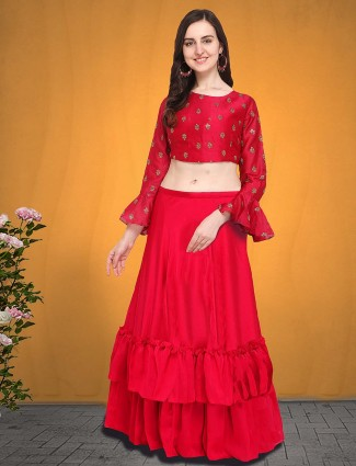G3 Exclusive lovely magenta silk party lehenga choli