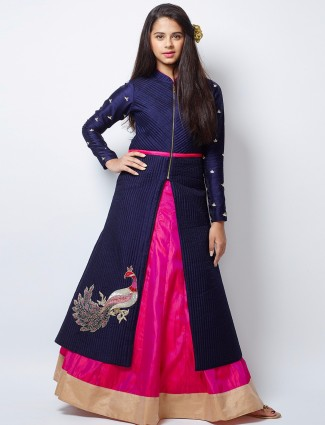 G3 Exclusive magenta silk wedding wear lehenga choli