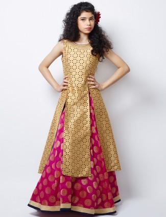 G3 Exclusive magenta silk wedding wear nice lehenga choli