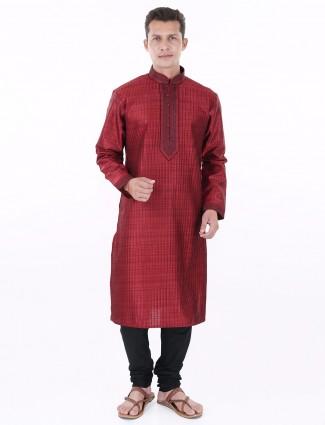 G3 Exclusive maroon festive silk Mens Kurta Suit