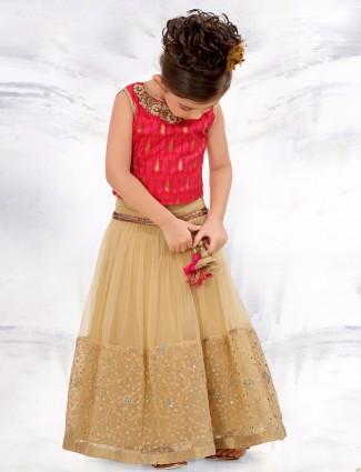 G3 Exclusive net beige wedding wear lehenga choli