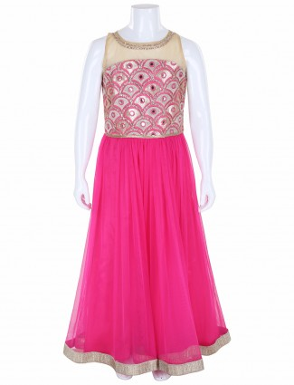 G3 Exclusive net pink party wear gown