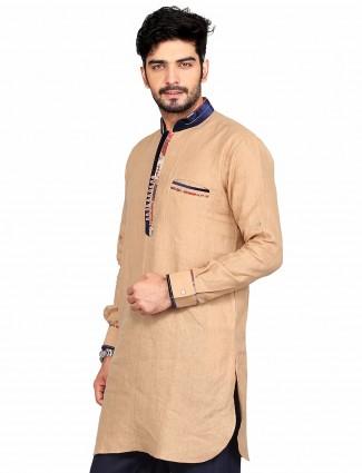 G3 Exclusive party wear beige plain cotton Short Pathani