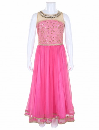 G3 Exclusive party wear pink net gown