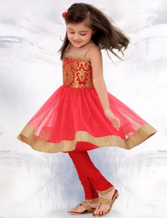 G3 Exclusive party wear red anarkali salwar suit