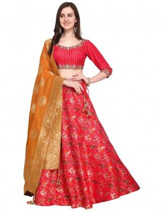 G3 Exclusive Red color patola silk wedding lehenga choli