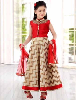 G3 Exclusive red silk wedding anarkali salwar suit