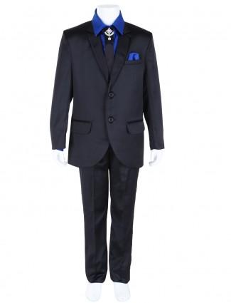 G3 Exclusive tarry rayon plain boys black coat suit