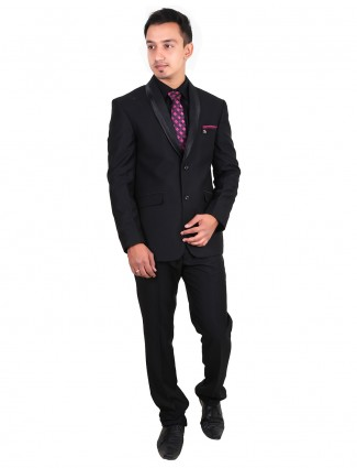 G3 exclusive terry rayon black plain mens coat suit