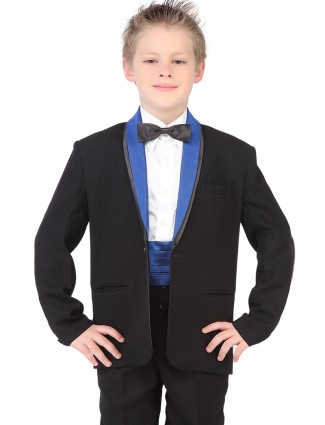 G3 Exclusive terry rayon boys black coat suit