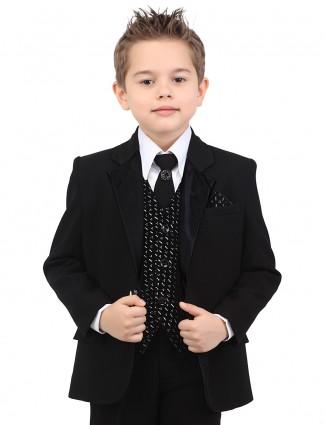 G3 Exclusive terry rayon plain black boys coat suit