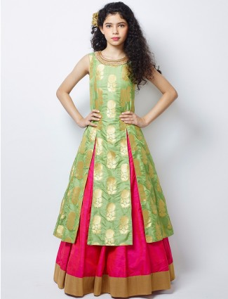 G3 Exclusive wedding wear magenta raw silk lehenga choli