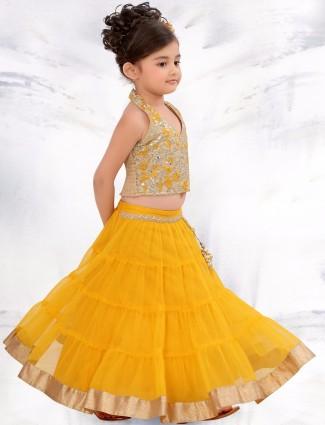 G3 Exclusive yellow wedding wear lehenga choli