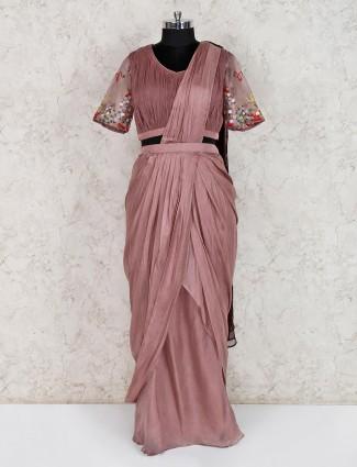 Georgette brown indo western designer suit
