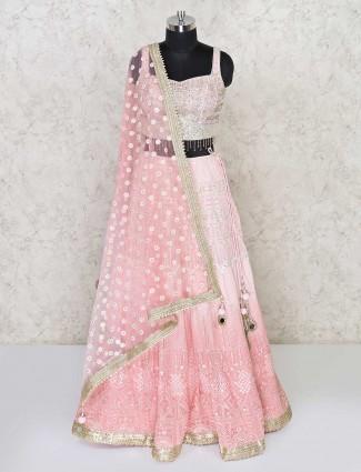 Georgette lehenga choli in pink