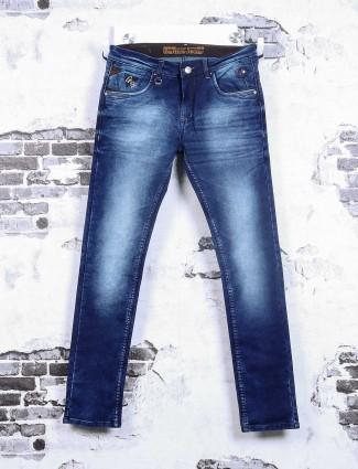Gesture mens dark blue jeans