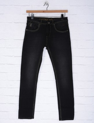 Gesture solid denim black colored jeans