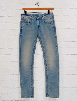 Gesture washed blue slim fit jeans