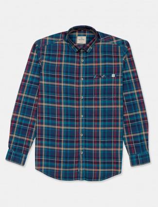 Gianti checks green slim fit mens shirt