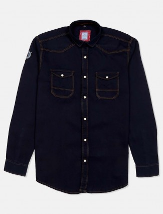 Gianti denim navy solid shirt