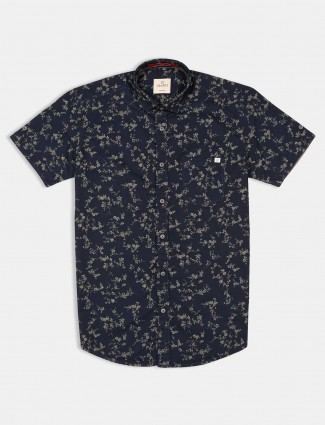 Gianti presented navy printed shirt