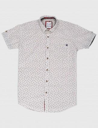 Gianti printed cotton beige shirt