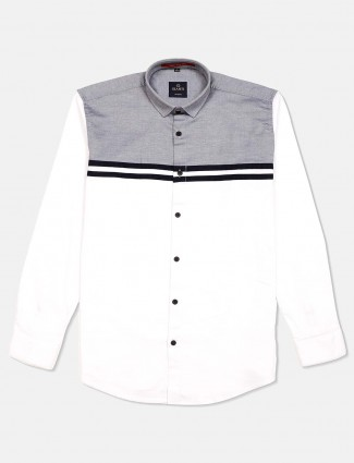 Gianti solid white full sleeves shirt