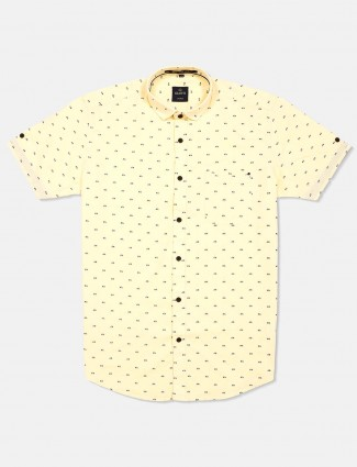 Gianti yellow printed shirt