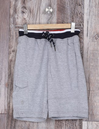 Gini & jony cotton plain grey shorts