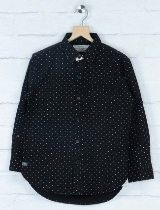 Gini and Jony black printed cotton shirt