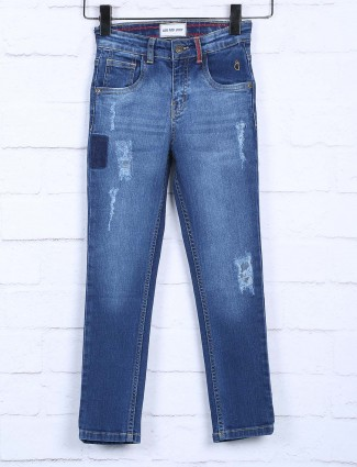 Gini and Jony blue color slim fit jeans