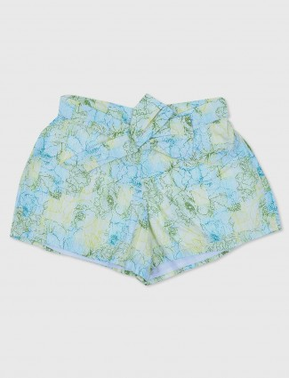 Gini and Jony blue printed casual cotton shorts
