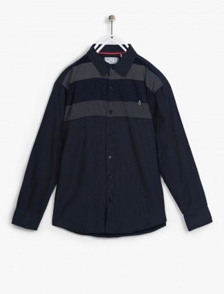 Gini and Jony casual navy shirt