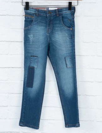 Gini and Jony light navy slim fit jeans