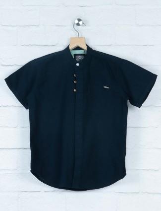 Gini and Jony navy hue solid shirt