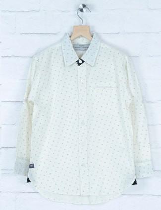 Gini and Jony off white printed shirt