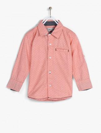 Gini and Jony pink printed shirt